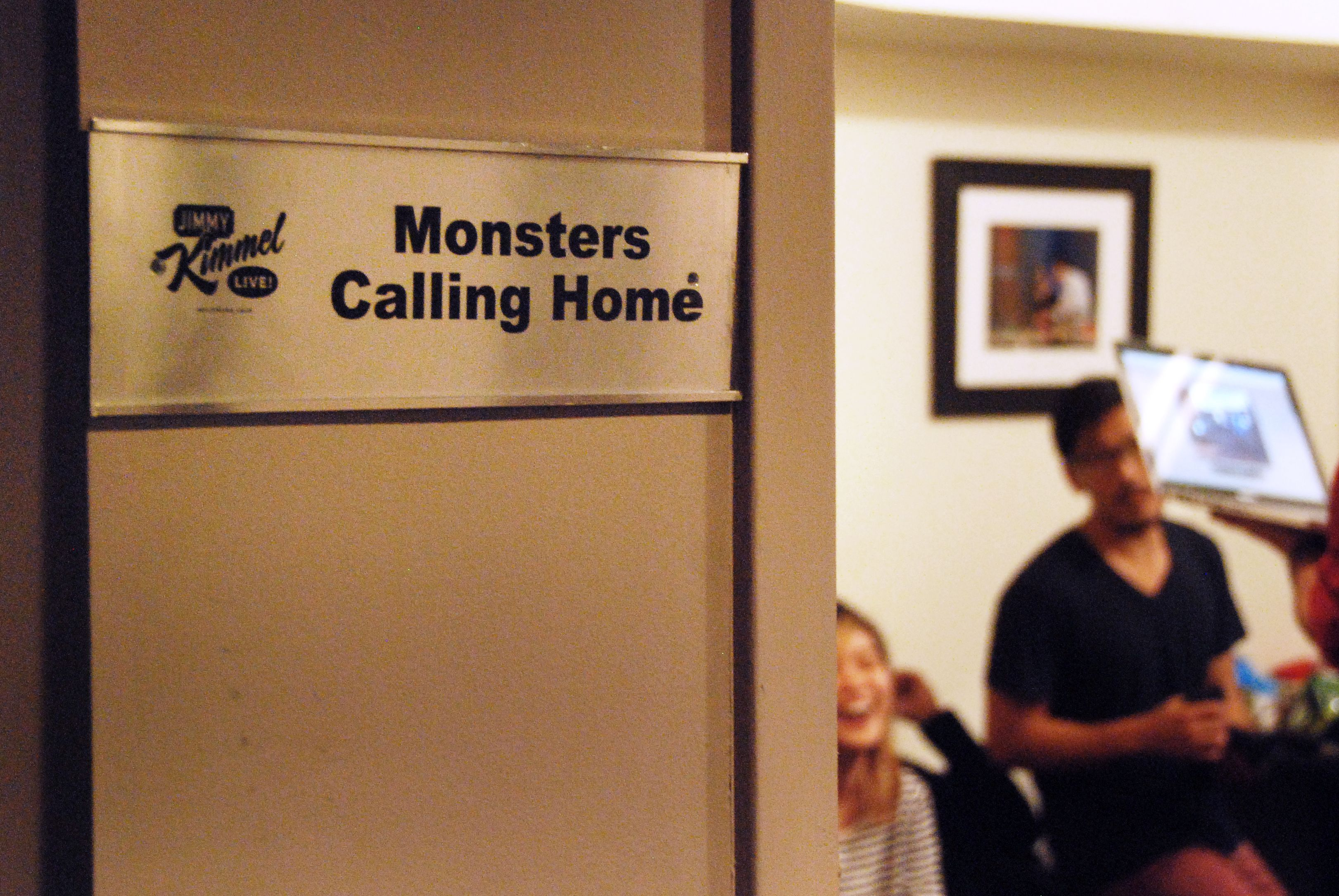 "Unsuspecting band #MonstersCallingHome gets a surprise of a lifetime on #JimmyKimmelLive"" #HondaLovesYouBack"