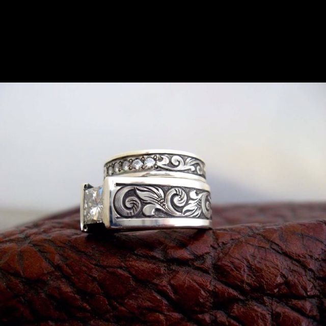 Western wedding band I love Travis Stringer jewelry 10th Soire
