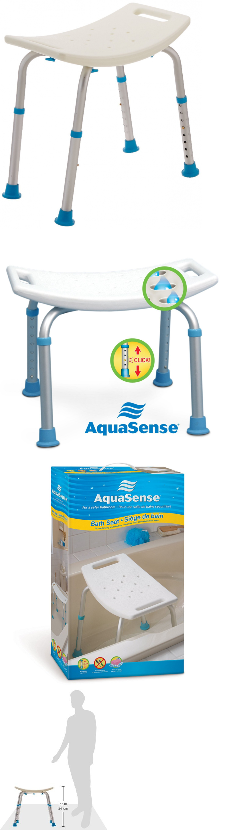 Shower and Bath Seats: Aquasense Adjustable Bath And Shower Chair ...