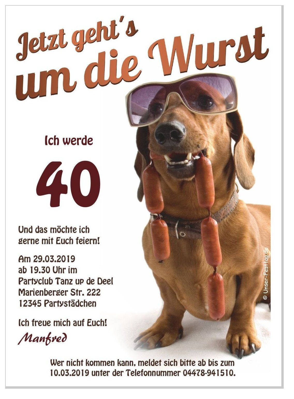 Lustige Geburtstagseinladungen Fur Ihren Runden Geburtstag Hund