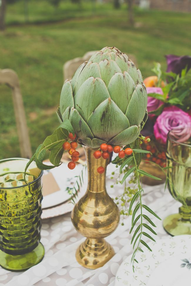 Unique rustic outdoors whimsical florals
