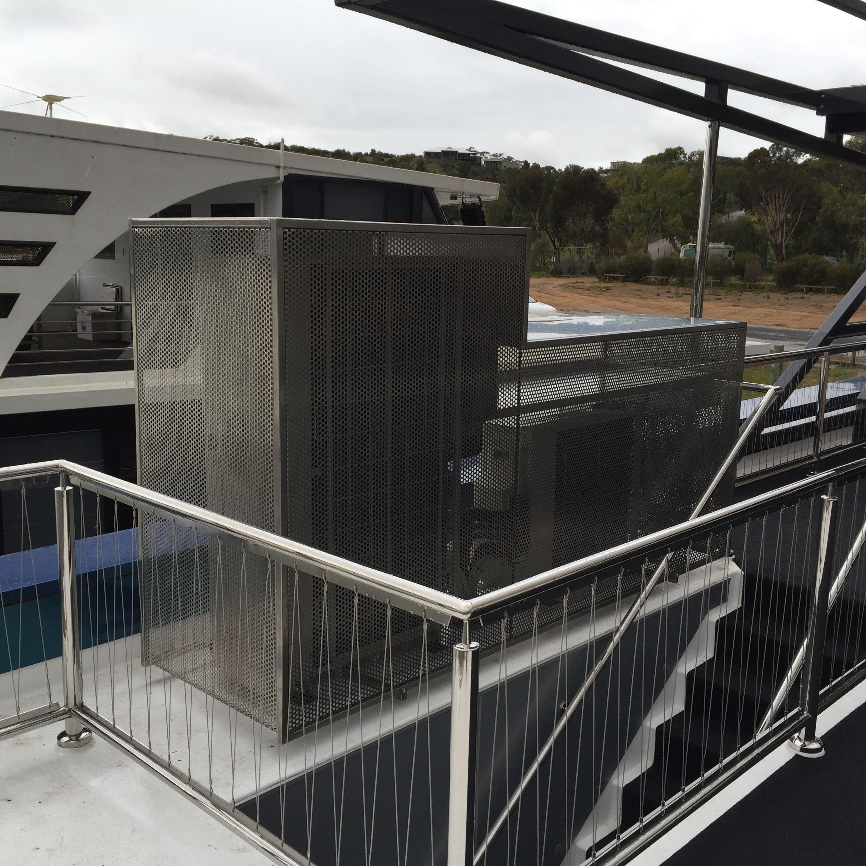 Carpe Diem house boat S/S air conditioner cover. Air