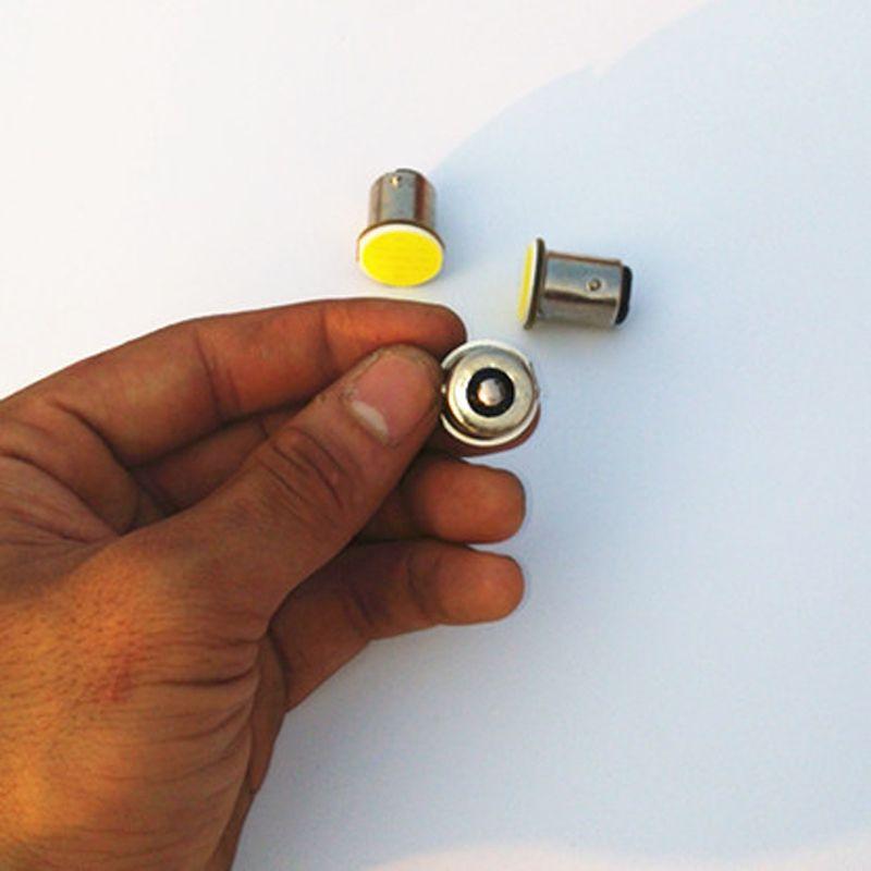 2 pz/lotto S25 1156/1157 ha condotto la luce COB 12SMD P21W Auto Car Segnale Reverse Luci Led Bianco indicatori di direzione 12 V Auto Ha Condotto Freno lightAE