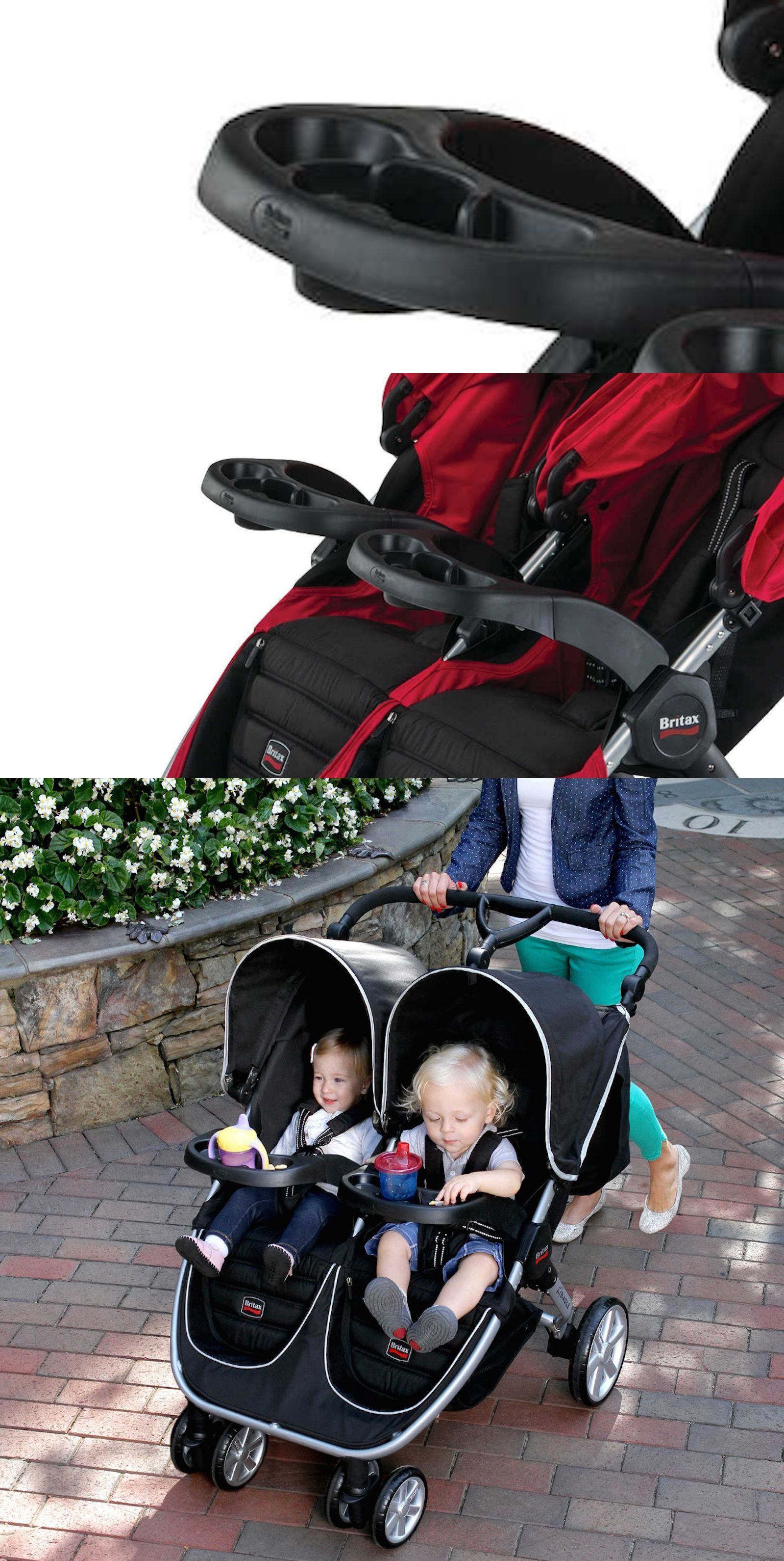 BRITAX BAgile Double Stroller Tray Drinks Holder Snack