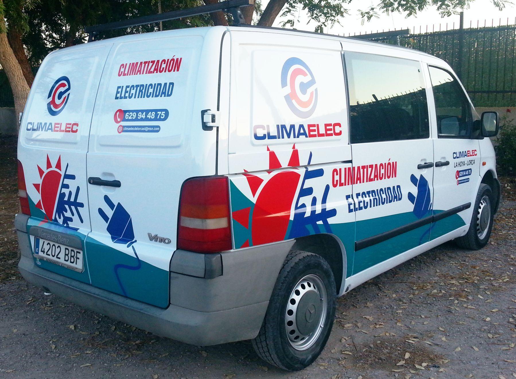 Rotulación Vehículo Comercial CLIMAELEC www.logovision.es ...