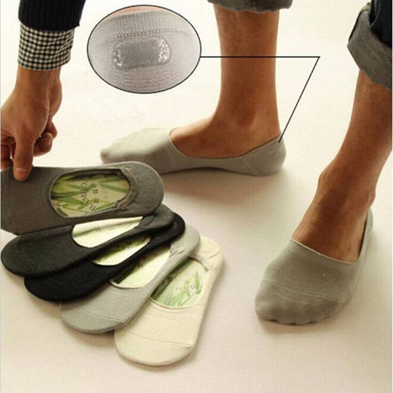 5 Pairs Women/'s Fiber Invisible Non-slip Slipper Low Cut No Show Boat Socks Soft