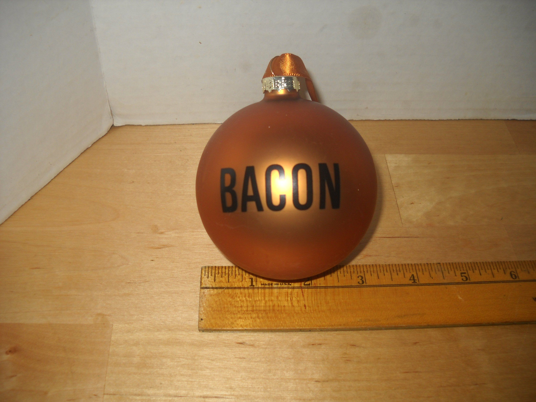 Christmas ornament whataburger bacon ball 2 34 dia brown