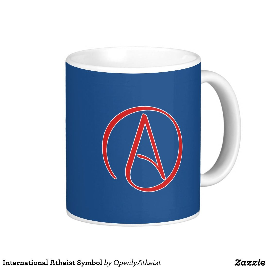 International Atheist Symbol Basic White Mug Atheismsecular