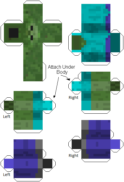 make your own minecraft zombie print out papercraft m pinterest