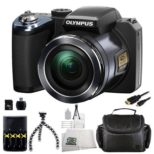 Olympus SP-820UZ iHS Digital Camera Kit (Black). Includes: 16GB Memory Card + High Speed Memory Card Reader +... $223.95 (save $195.05)