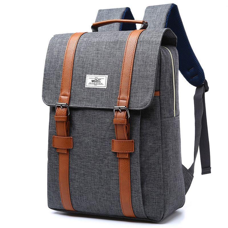 2297abeb2c58 2018 Vintage Men Women Canvas Backpacks School Bags for Teenagers Boys Girls  Large Capacity Laptop Backpack