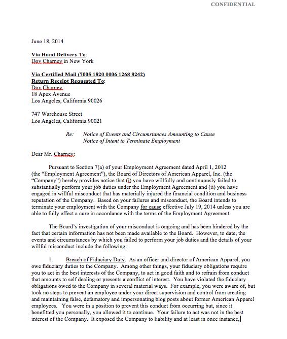 Related Post For Board Member Termination Letter  Letter Of Firing