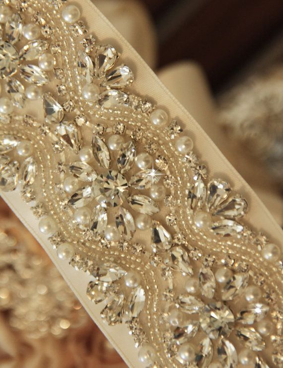 Belts for wedding dresses with pearls cheap