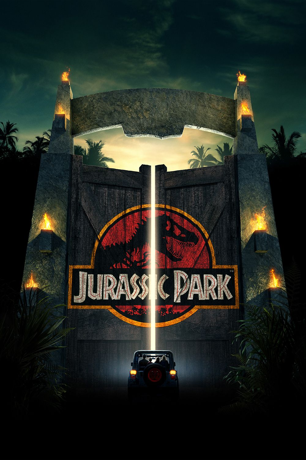 JURASSIC PARK - A group of people on a preview tour are stranded when Jurassic Park is hit with a hurricane, releasing its cloned prehistoric inhabitants.