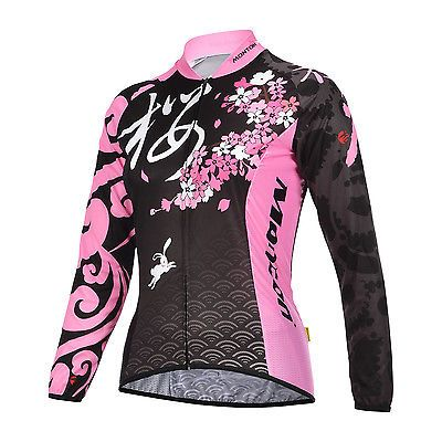 Love this Jersey but I bought it too small so sleves were short. So I cut the sleeves! It looks great as a short sleve jersey! MONTON Night Rabbit Women's Long Sleeve Road Bike Bicycle Cycling Jersey Top I got this for Christmas! With this Monton company you really need to order 1 size up!