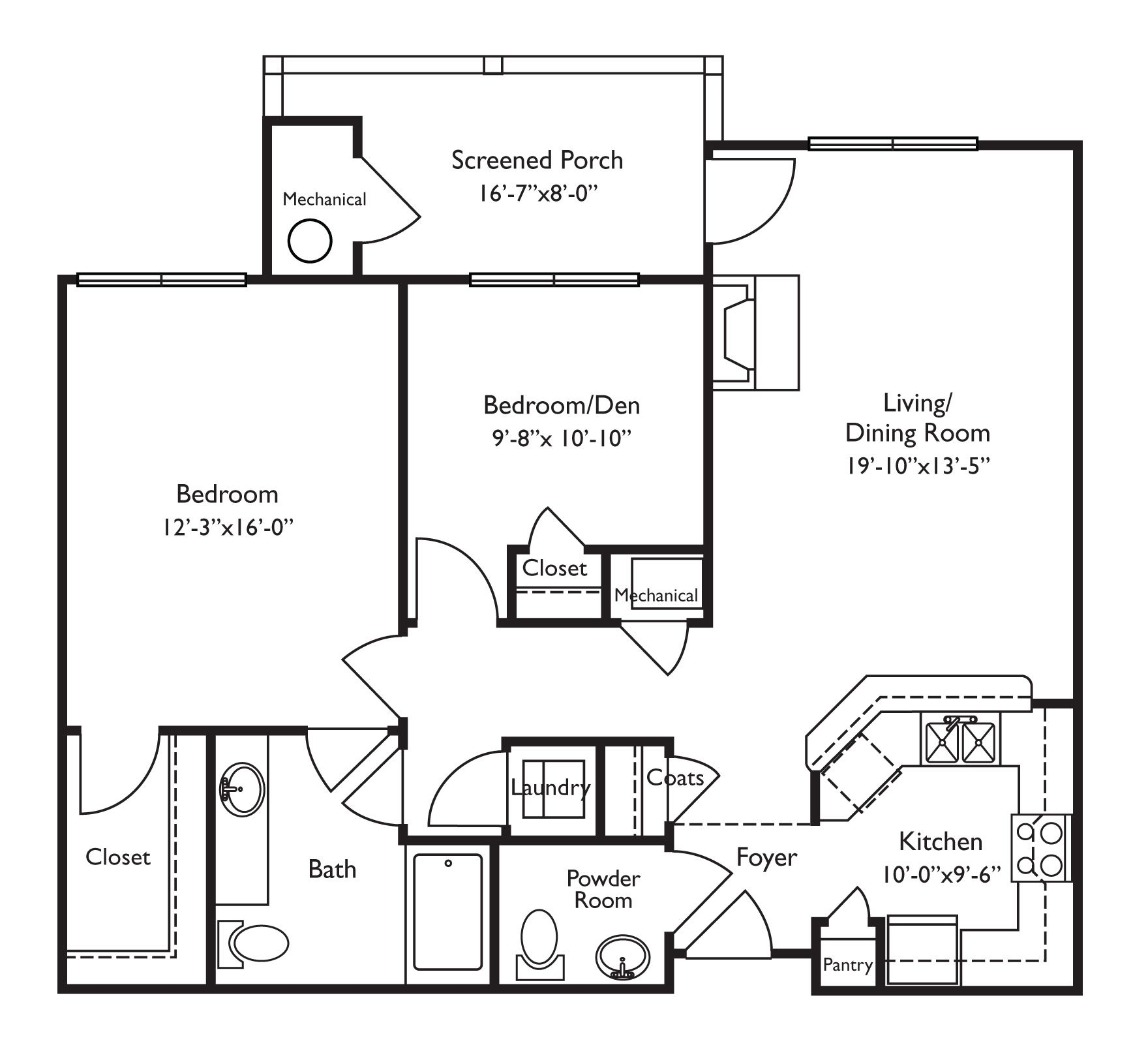 Floor Plans For Retirement Homes. Looks Wheelchair Accessible. Screened  Porch Is A Nice Part 45