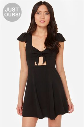 LULUS Exclusive Tie Spell Black Dress at LuLus.com!