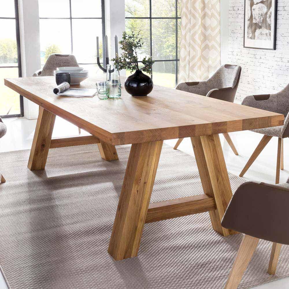 Esszimmertisch aus Massivholz Eiche geölt Jetzt bestellen