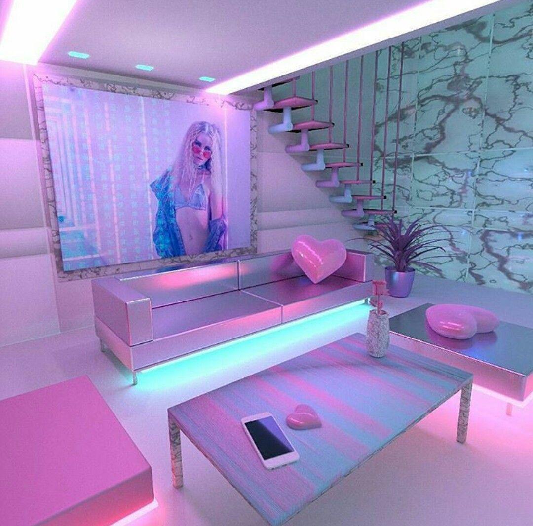 #neon #aesthetic | cool | Pinterest | Casas brillantes ... on Room Decor Ideas De Cuartos Aesthetic id=97599