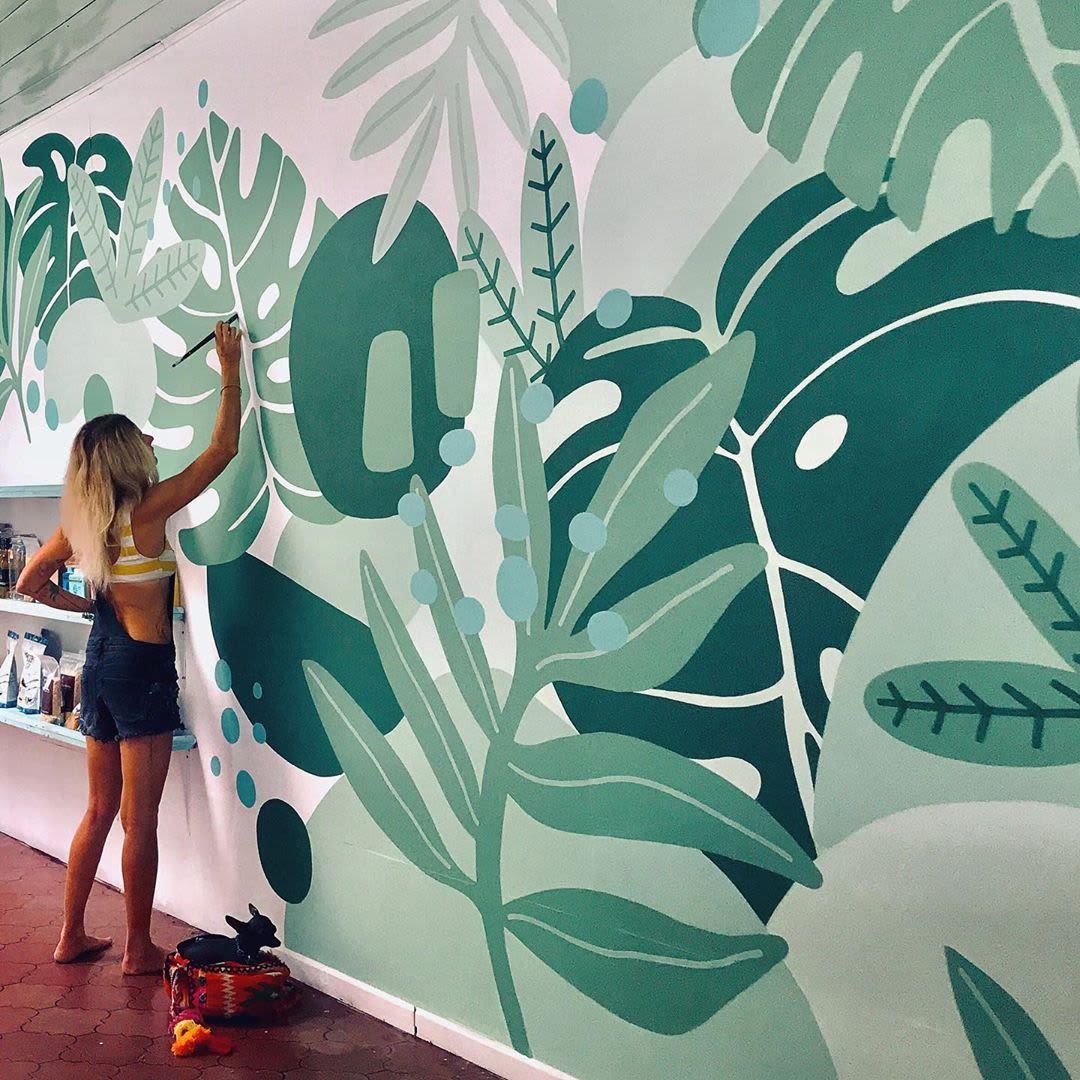 Murals - Monstera Mural
