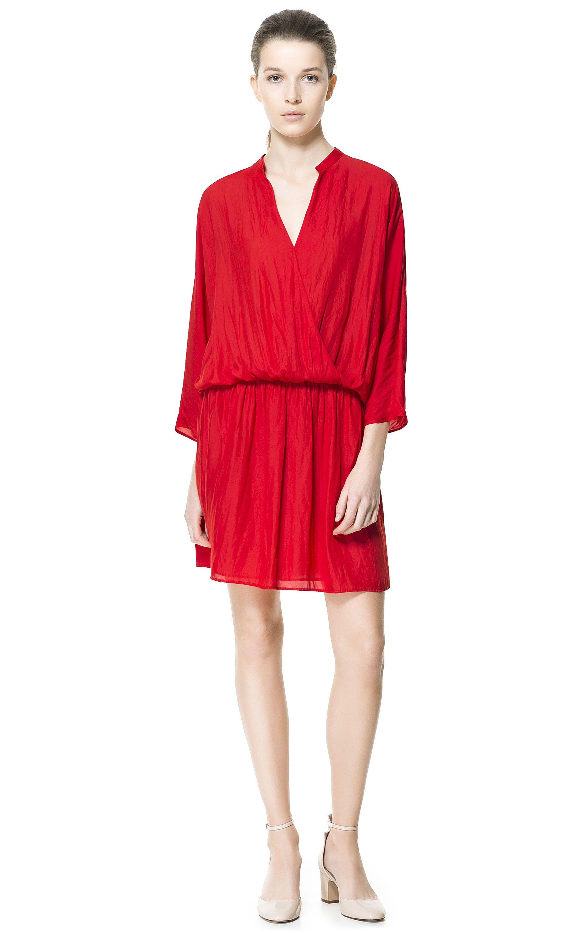 WRAP DRESS Dresses Woman ZARA Canada Style Wish List
