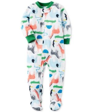 78e22b093 Carter s 1-Pc. Safari-Print Footed Pajamas