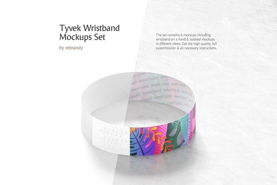 Download Tyvek Wristband Mockups Set Design Mockup Free Free Packaging Mockup Free Psd Mockups Templates