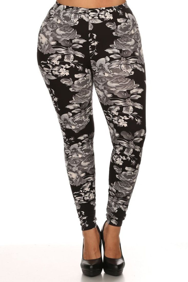 Pleasantville Rose Design Plus Size Leggings | Products, Rose ...