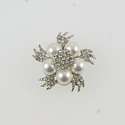 small pearl and crystal embellishment for diy wedding staitonery and crafts