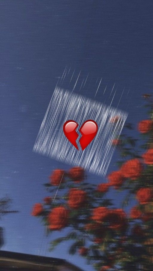 Aesthetic Depression Broken Heart Emoji Wallpaper