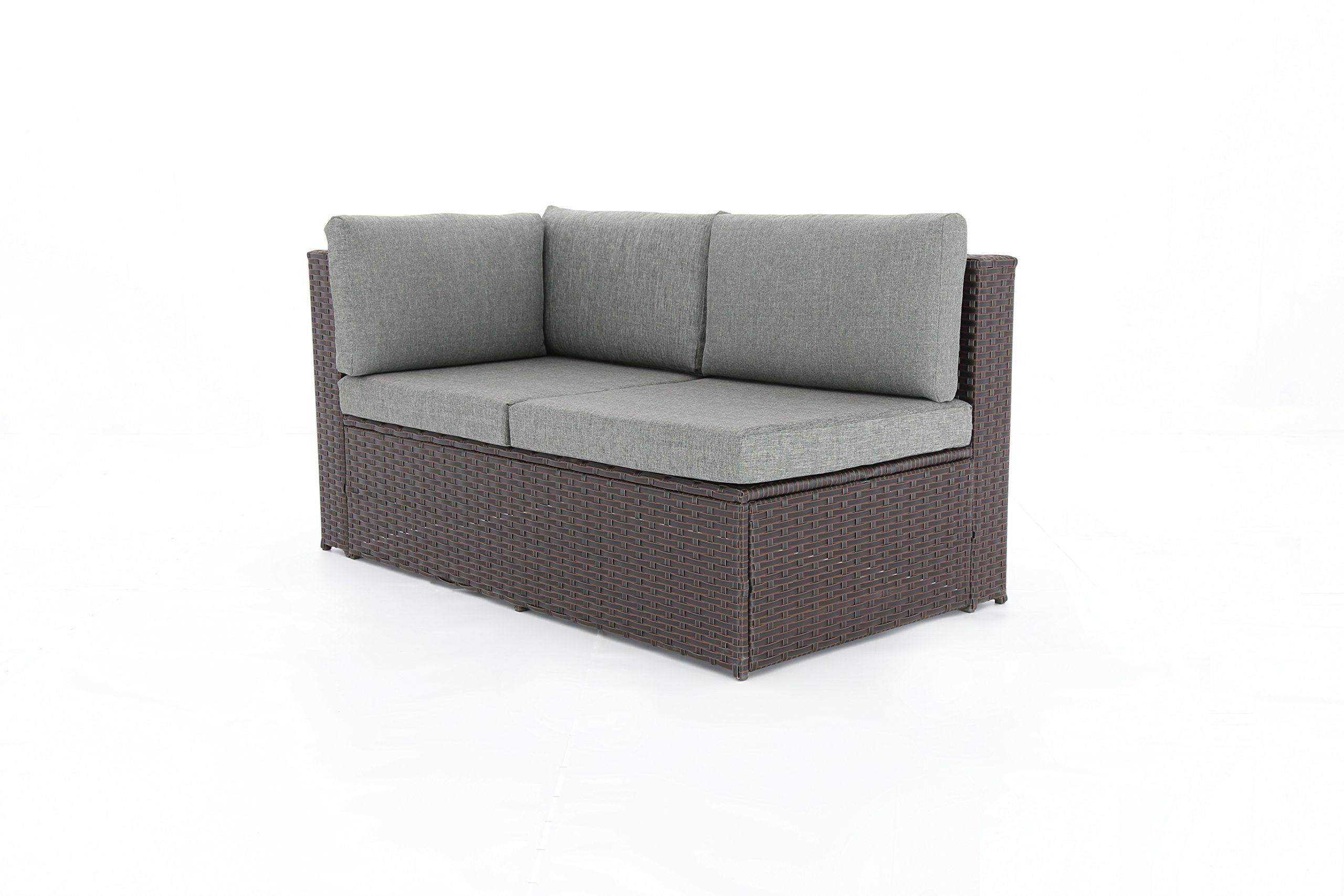 59582d67a306 Baner Garden K35CH 4 Pieces Outdoor Furniture Complete Patio Cushion Wicker  Rattan Garden Corner Sofa Couch Set Chocolate >>> Find out more about the  great ...