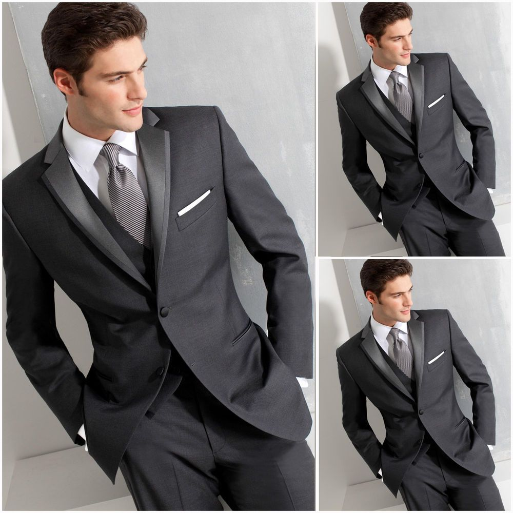 Custom Made Groom Tuxedos Notch Lapel Handsome Party Groom Suits ...