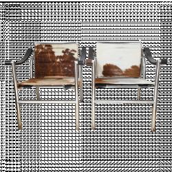 Fauteuils Lc1 Sling Chair Par Le Corbusier Pour Cassina Mobilier Meubles En Cuir Mobilier De Salon