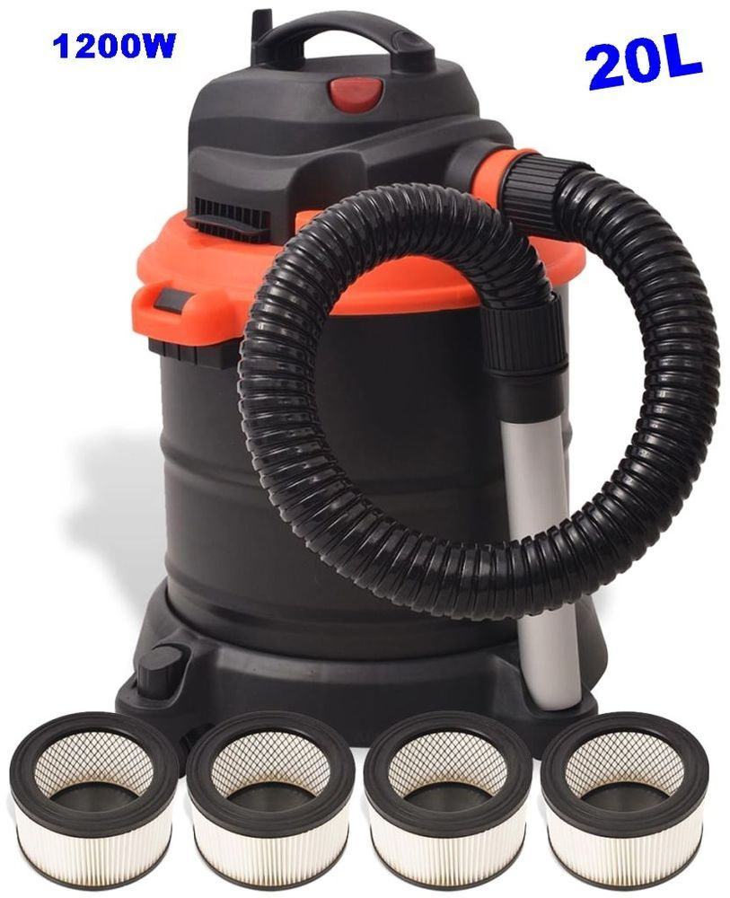 Fireplace Ash Vacuum Cleaner Bagless Hoover Stove Chimney Dirt