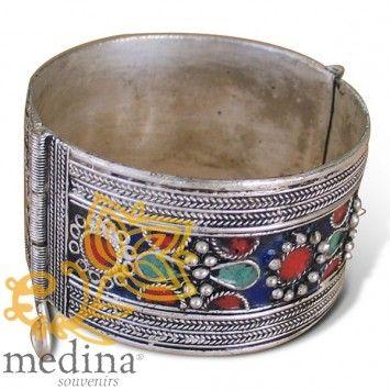 Bracelet berbère en métal argenté