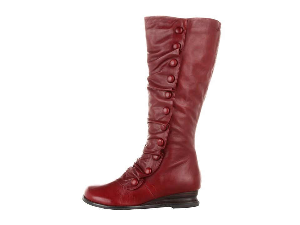 dde8c75a56c6 Miz Mooz Bloom Wide Calf Women s Zip Boots Red