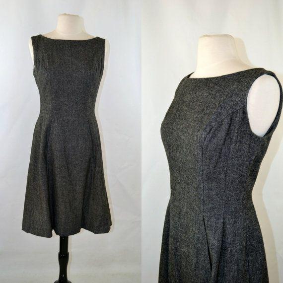 Gray Sleeveless Tea Length Dress