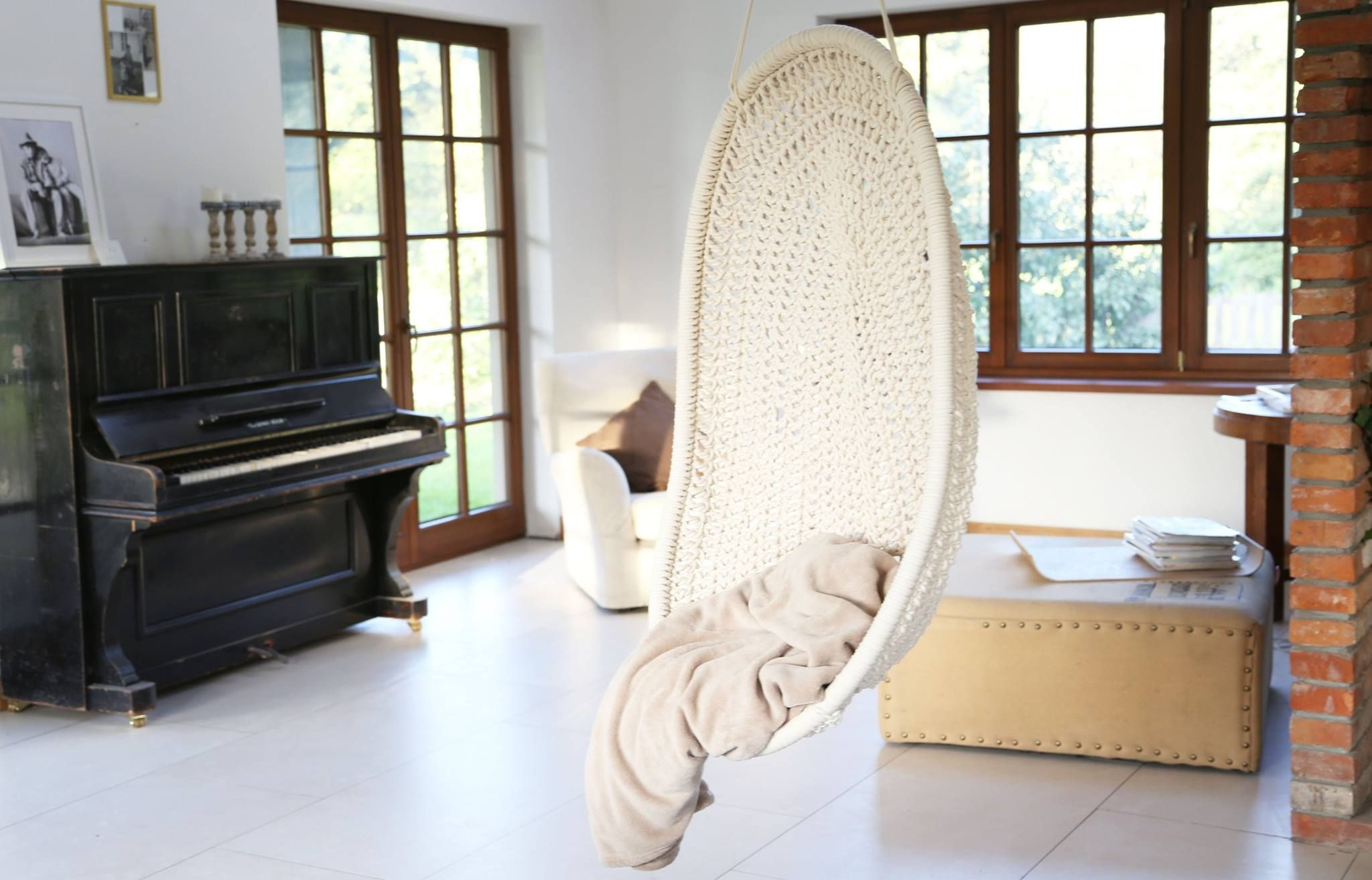 Indoor hammock crocheted or knitted ucliving roomsue pinterest