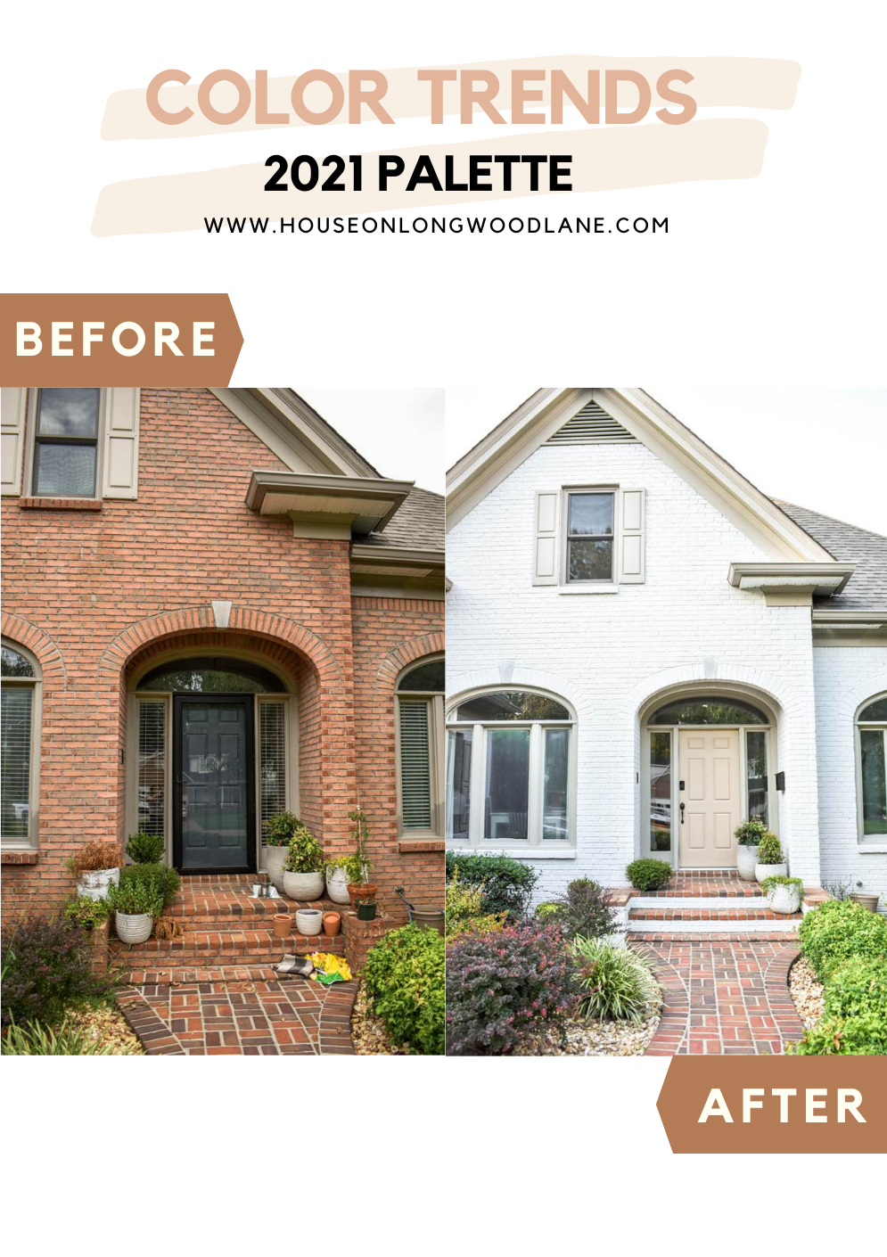 Painting Our Homes Exterior With Behr Color Trends 2021 Palette House On Longwood Lane Exterior House Color Brick Exterior House Behr Exterior Paint