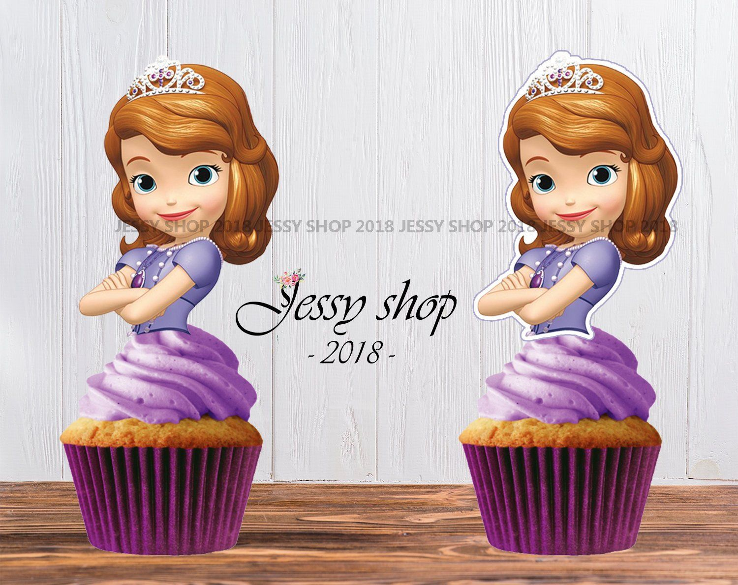 Sofia The First Cupcake Toppers Princess Sofia Cupcake Topper