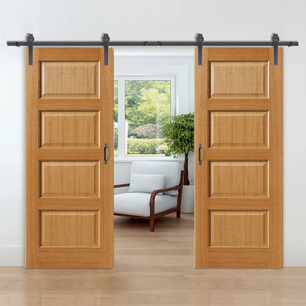 Thruslide Traditional Mersey Oak Sliding Double Door Sliding Door