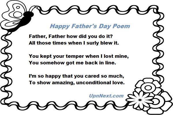 Short Dad Poems 6