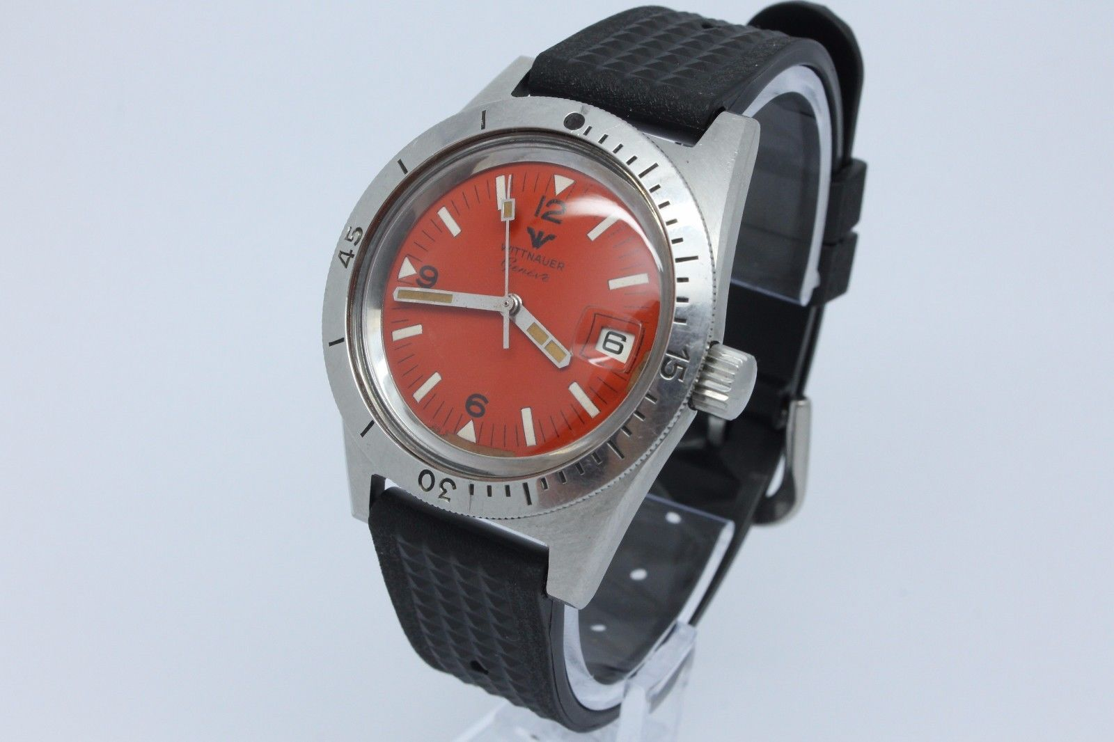 vintage wittnauer skin diver 38mm steel mens watch manual c11ks rare rh pinterest com Wittnauer Watches Model Numbers Vintage Wittnauer Ladies Watches