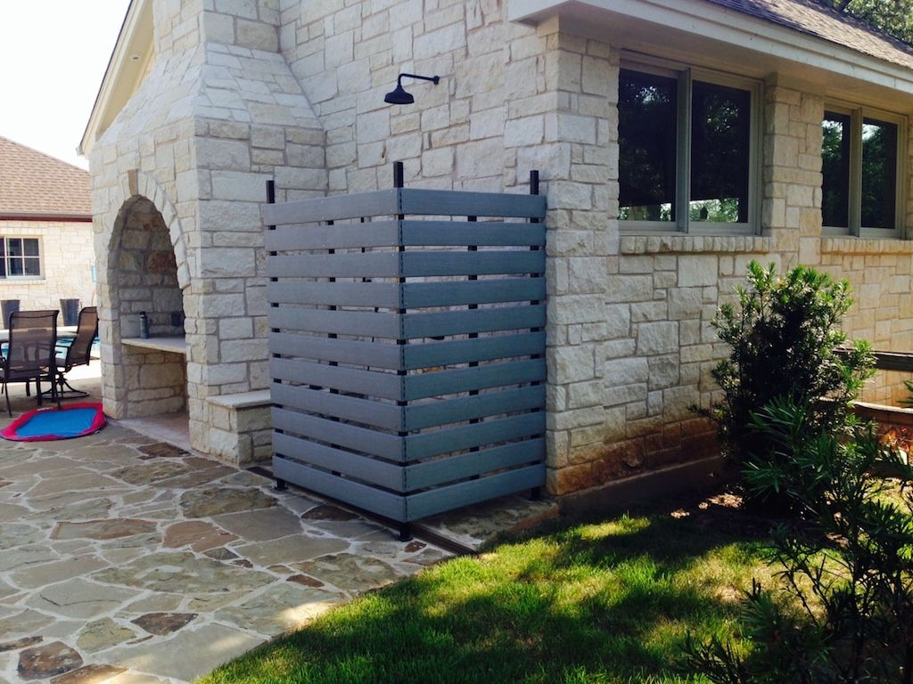 Outdoor Shower Stall and A/C Rock Wall in Elliott Ranch - Excel ...