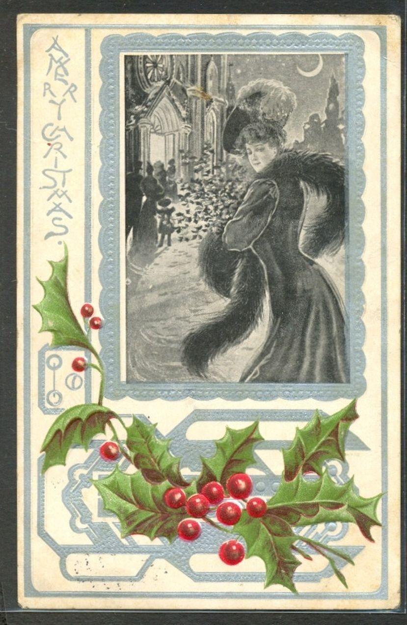 Art Nouveau Christmas Lady | Christmas Folk ♥ | Pinterest ...