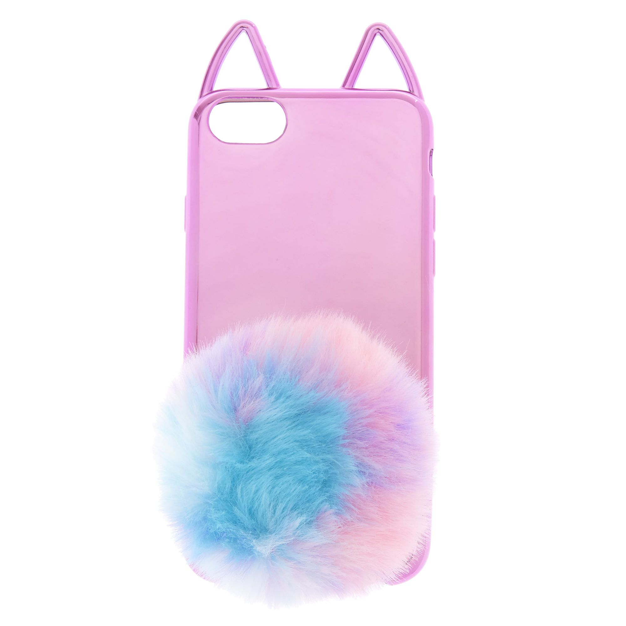 pretty nice 8ee2a 1f558 Pastel Shebert Cat Pom Phone Case | Claire's | CECE'S BABE | Phone ...