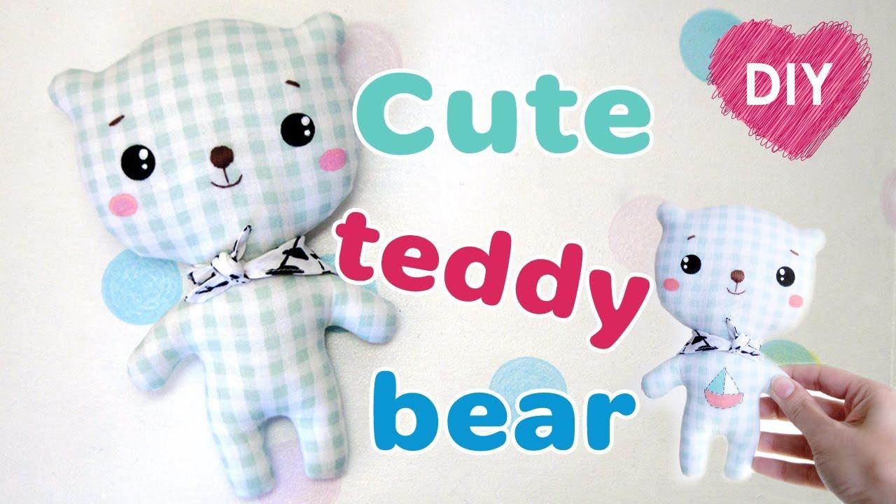 DOY kawaii osito de peluche. Cómo coser un oso de peluche + patrón ...