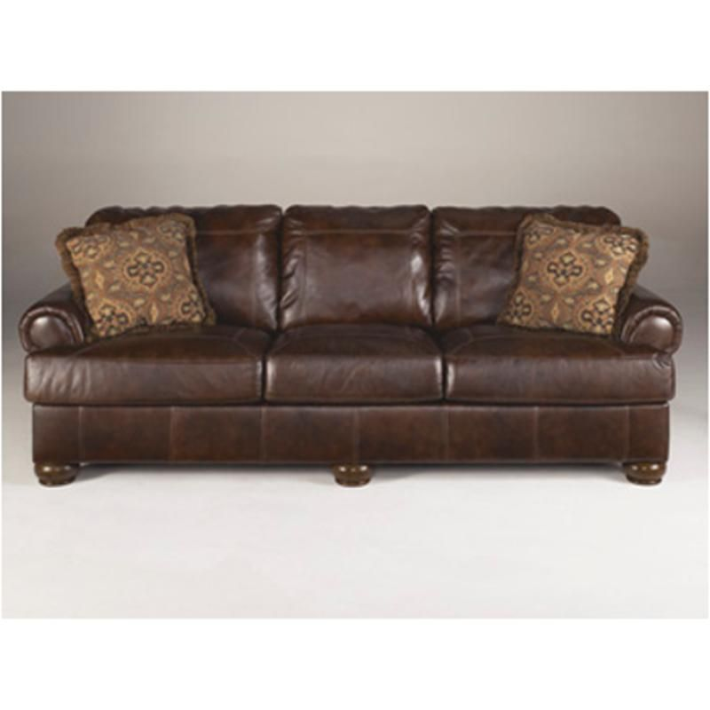 4200038 Ashley Furniture Axiom Walnut Sofa Distressed Leather