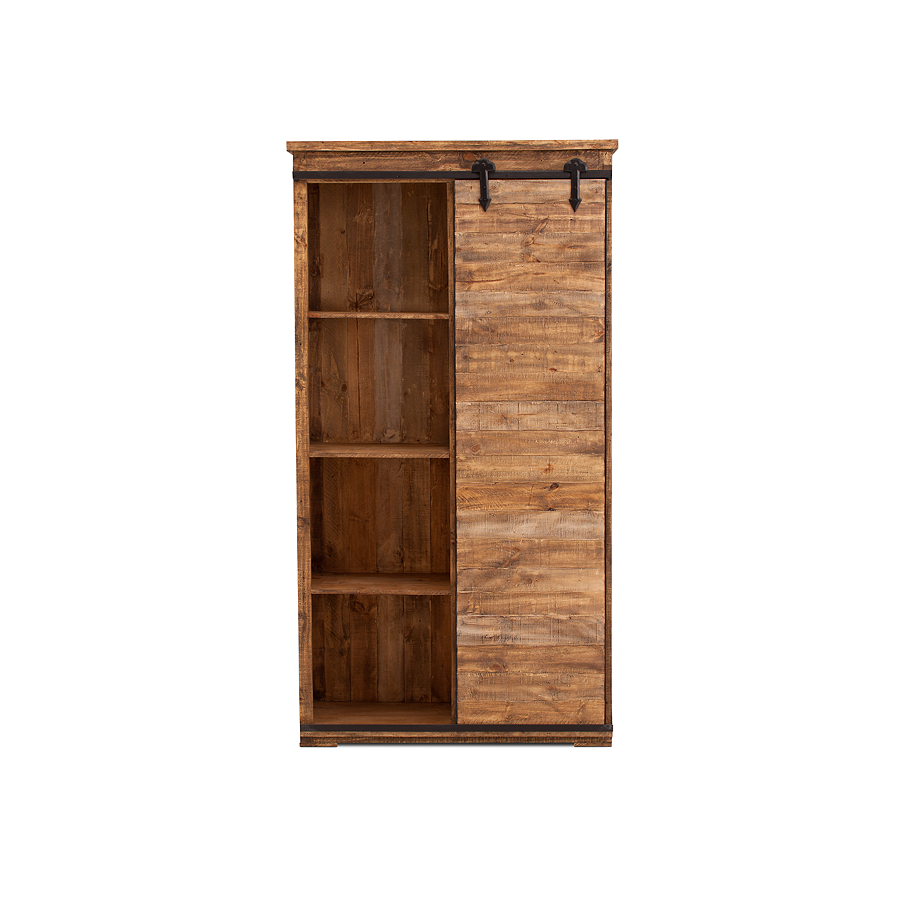 Take Covert Actionu2013The Franklin Bookcase Features A Hanging Door On A Sliding  Rail System