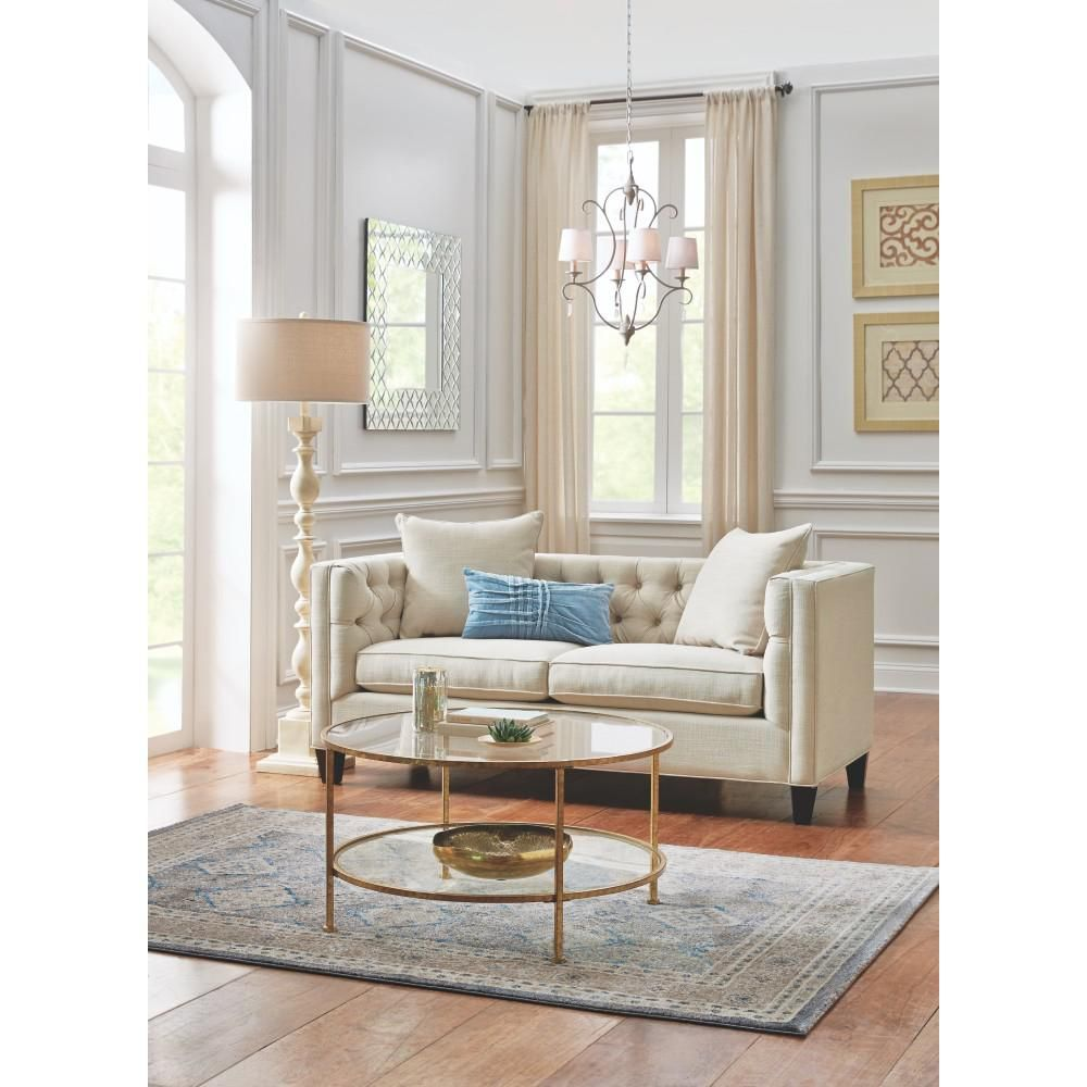 Lakewood Beige Linen Sofa | Moldings, Living rooms and Walls